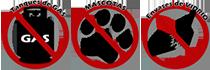 No se permite entrada de envases de vidrio, mascotas, ni tanques de gas